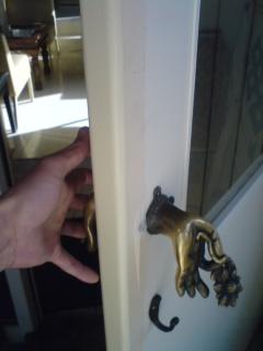 新品ドア色塗り